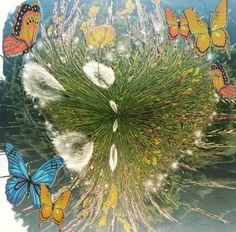 natur Dandelion, Flowers, Plants, Painting, Art, Pictures, Nature, Kunst, Art Background
