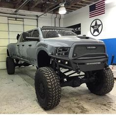 The Mega Ram Runner - This truck was built By and DieselSellerz, and they did a great job - They need to build more of these. Lowered Trucks, Dodge Trucks, Big Trucks, Pickup Trucks, Lifted Trucks, Lifted Dodge, 6 Door Truck, Ram Runner, Dodge 3500
