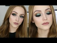 YouTube emerald green smoky with Kathleen Lights palette