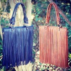 Are you as crazy about fringe as we are? Shop these hipster fringe bags in both stores! #shopPD #fringebag