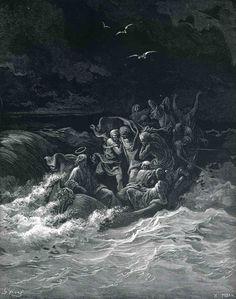 Abishai Saves David's Life, Gustave Doré