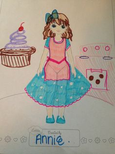 Lottie Outfit Design! Annie ( age 10) from  USA. 'Baking Lottie' who was inspired by the 50s and pastel!