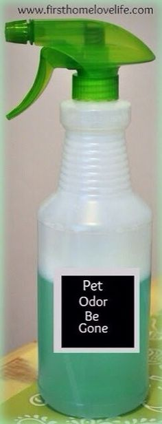 Pet Odor Eliminator: One Part listerine And 2 Parts peroxide, Water & Vinegar.