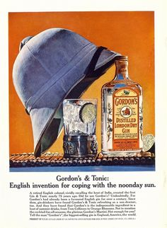 But everyone from London to Aberdeen loves gin! And colonialism! #GnT #PithHelmet #VintageAd #Colonialism