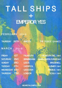 Tall Ships / Emperor Yes Tour Poster