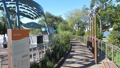Wooden walkway - 8 wood walkways and pathways ideas to enhance your landscape Landscape Design, Garden Design, House Design, Brazilian Hardwood, Wood Walkway, Glass Bridge, Pallet Painting, Outdoor Sculpture, Wood Design