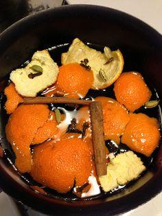 Cinnamon citrus stove top potpourri