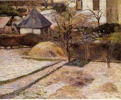 """""""Landschaft bei Osny"""", öl auf leinwand von Paul Gauguin (1848-1903, France)"""