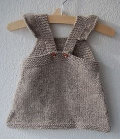 Summer Into Fall pinafore dress - knitting pattern - Knitting Patterns at Makerist