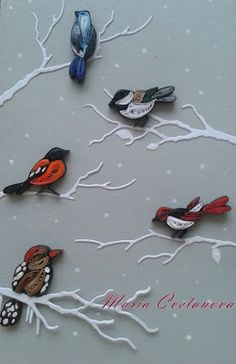 Quilling Seasons - by: Maria Cvetanova                                                                                                                                                                                 More