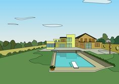 Dt Drawn Together, Golf Courses, Humor, Mansions, House Styles, Manor Houses, Humour, Villas, Funny Photos