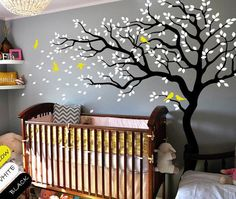 Nursery room tree wall decal Baby nursery tree by DecalsArtShop, $75.99