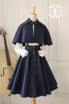 Gothic Lolita Vintage Cape Cross Regression Victorian Cape – You can find Lolita dress and more on our website. Gothic Lolita Dress, Gothic Lolita Fashion, Lolita Style, Victorian Fashion, Vintage Dresses, Vintage Outfits, Vintage Fashion, Victorian Outfits, Vintage Clothing
