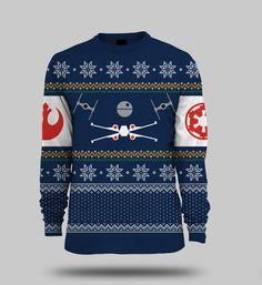 Star Wars X-Wing Vs. Tie Fighter Christmas Jumper