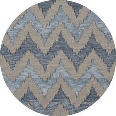 Dalyn Rug Co. Bella Beige/Blue Area Rug Rug Size: Round 8'