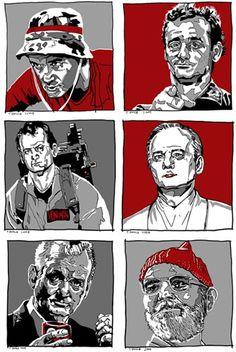 """Bill Murray Times Six"" Art Print by Tim Doyle"