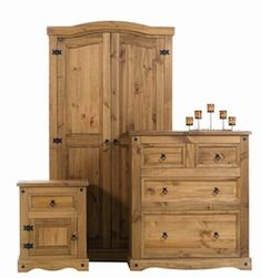 Premium Corona Mexican Solid Pine Bedroom Furniture With Real ...
