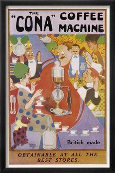 British-made CONA coffee machine