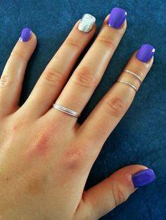 Bluish Purple & Silver