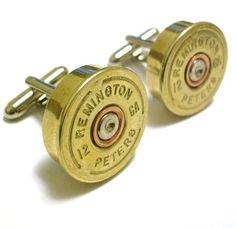 Remington 12 Gauge Shotgun Shell Cufflinks FREE GIFT by Cufflinks