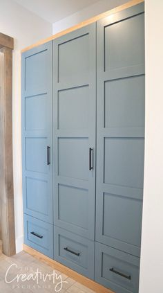 Sherwin Williams Slate Tile: Color Spotlight Mudroom cabinetry painted with Sherwin Williams Slate T Bedroom Paint Colors, Mudroom, Mudroom Cabinetry, Home, Slate Tile, Home Remodeling, Color Tile, Home Renovation, Home Diy