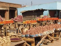 Market in Malawi --Perfect Stacks