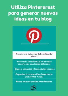 Pinterest es una herramienta extraordinaria para generar ideas novedosas para tus post