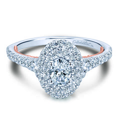 Discover our selection of preset engagement rings from Gabriel & Co adore collection. Give her a beautiful preset diamond ring that showcase your commitment and love. Wedding Rings Simple, Wedding Rings Rose Gold, Wedding Rings Vintage, Gold Wedding, Dream Wedding, Costume Jewelry Rings, Silver Rings With Stones, Wedding Ring Designs, Halo Diamond Engagement Ring