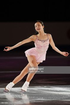 Marin Honda of Japan performs her routine in the exhibition on the day five of the World Junior Figure Skating Championships at Taipei Multipurpose Arena on March 2017 in Taipei, Taiwan. Get premium, high resolution news photos at Getty Images Beautiful Japanese Girl, Beautiful Asian Girls, Ice Skating, Figure Skating, Women Figure, Ladies Figure, Skating Dresses, Ballet Dancers, Unitards