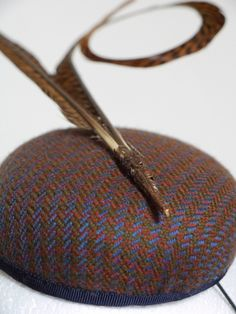 Tweed mini - Detail by MARY TURNER This would require a buckram frame base. #millinery #judithm #hats