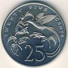 Jamaica 25 cents coin
