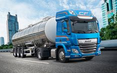 Download wallpapers DAF CF, 2018, tanker, gasoline transportation, delivery, LKW, new trucks, 450FT SPACE CAB, DAF