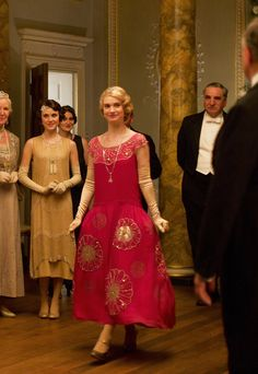 Lily James as Lady Rose MacClare in Downton Abbey - Series 4 Christmas Special, 2013