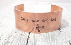 Hey, I found this really awesome Etsy listing at https://www.etsy.com/listing/539303056/personalized-message-cuff-sing-your-own