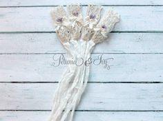 Newborn Vintage Lace Bow Tieback by PetuniaandIvy on Etsy, $12.00
