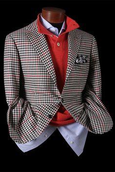Cesare Attolini Houndstooth w/Windowpane - Cashmere sport coat. Gentleman Mode, Gentleman Style, Mens Fashion Blazer, Suit Fashion, Sharp Dressed Man, Well Dressed Men, Mens Attire, Mens Suits, Mode Costume
