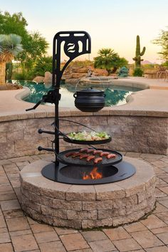 Diy Fire Pit, Fire Pit Backyard, Best Fire Pit, Outdoor Fire Pits, Fire Pit With Grill, Back Yard Fire Pit, Fire Pit Cooking Grill, Fire Pit Pergola, Make A Fire Pit