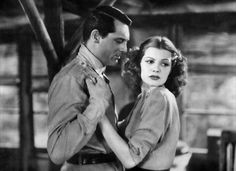 """Rita Hayworth and Cary Grant - Still scene from the 1939 film """"Only Angels Have Wings"""" Hollywood Icons, Hollywood Star, Classic Hollywood, Hollywood Actresses, Cary Grant, Rita Hayworth Movies, Jean Arthur, Fritz Lang, Famous Movie Quotes"""