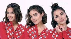 Olivia Culpo and Justine Marjan Show Us 3 Ways to Style 2017's Hottest Haircut — InStyle#2017s #culpo #haircut #hottest #instyle #justine #marjan #olivia #show #style #ways Hot Haircuts, Wavy Bob Hairstyles, Popular Haircuts, Cute Hairstyles, Lauren Conrad Short Hair, Olivia Culpo Hair, Androgynous Haircut, Sleek Bob, Trending Haircuts