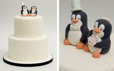 Penguin Wedding cake Pastel Pinguinos