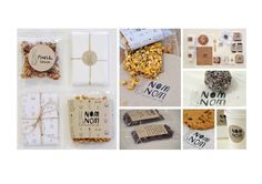 NomNom Branding and Design Food Design, My Design, Canvas Designs, Creative Industries, A Boutique, Nom Nom, Typography, Packaging, Place Card Holders