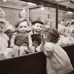 Little girl wishing for a doll
