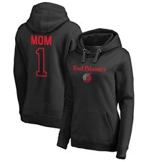 Portland Trail Blazers Fanatics Branded Women's Plus Sizes Number 1 Mom Pullover Hoodie - Black