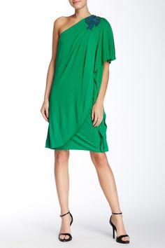 Ina One Shoulder Dress by Belle by Badgley Mischka on @nordstrom_rack