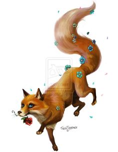 Fox Tattoo Commission by tiggytuppence.deviantart.com on @deviantART