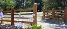 Fence Design Ideas - Photos of Fences. Browse Photos from Australian Designers & Trade Professionals, Create an Inspiration Board to save your favourite images. Farm Gate, Farm Fence, Backyard Fences, Fence Gate, Pasture Fencing, Farm Entrance, Driveway Entrance, Entrance Gates, Entrance Ideas