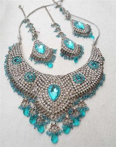Turquoise Blue Handcrafted Necklace Set
