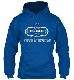 Elsie Name Tshirt Royal Sweatshirt Front