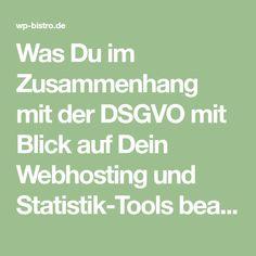 Was Du im Zusammenhang mit der DSGVO mit Blick auf Dein Webhosting und Statistik-Tools beachten solltest fasse ich in diesem Beitrag zusammen