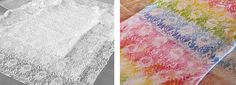 Spraying through patterned lace can result in exciting and beautiful ornate patterns.
